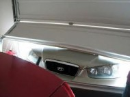 garage door damage on car