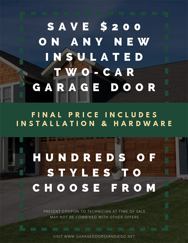 Save $200 on New Two-Car Garage Doors